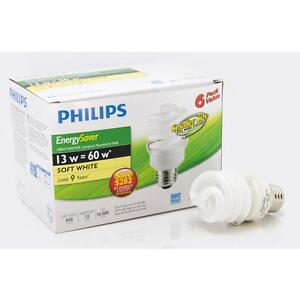 Numerous compact fluorescent (CFL) light bulbs