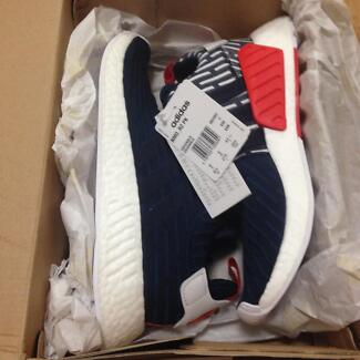 NMD R2 blue white red size 9.5 US