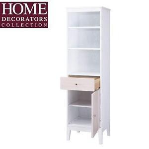 NEW* HDC 18'' BATHROOM CABINET - 118741875 - HOME DECORATORS COLLECTION MELBOURNE LINEN WHITE OAK DOORS