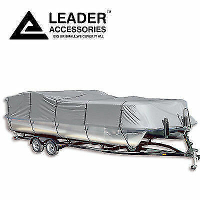 """300D Polyester Trailerable Pontoon Boat Cover 17'-20'L Beam Width Up to 102"""""""