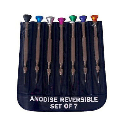 Precision Jeweler Eye Glasses Flat Tip Screw Driver - 7pc
