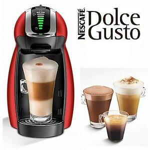NEW DOLCE GUSTO COFFEE MACHINE 243302707 NESCAFE  GENIO 2 ESPRESSO CAPSULE RED METAL SEE COMMENTS