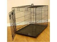 Medium dog crate.