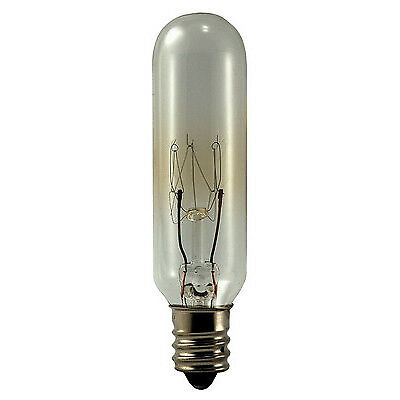 130v Incandescent Eiko Light Bulb (EIKO 15T6C-130V 15 Watt 130 Volt T6 E12 Tubular Incandescent Lamp )