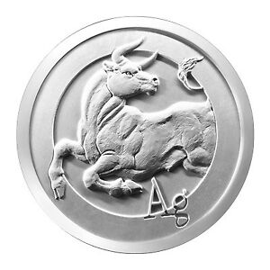 1 oz Pièce Argent Pur Bull Silver Shield Fine Silver Round .999