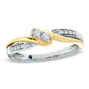 PROMISE RING 10KT 2- TONE GOLD $275.00