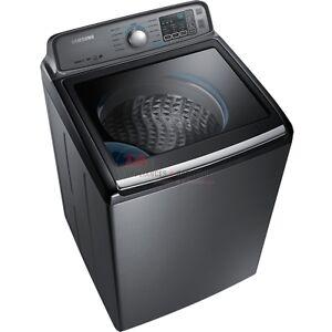 Laveuse SAMSUNG à chargement vertical de 5,2pi³ en platine inox.