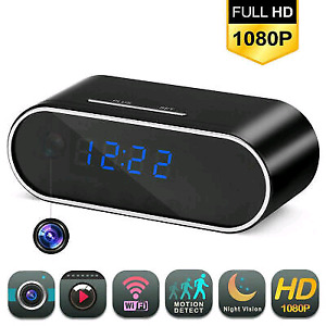 Table clock with HD spy camera, motion, wifi, night vision