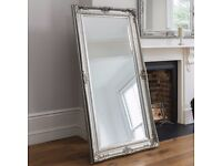 New Large Harrow Silver Leaner Mirror Only £129 get yours today