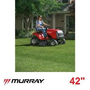 "NEW* MURRAY 42"" RIDE ON MOWER - 130031128 - 7 SPEED GAS POWERED LAWNMOWER LAWNMOWERS MOWERS RIDE ONS GASOLINE GRASS"