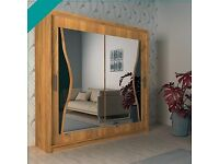 ⏳ Limited Time Offer - Brand New Batumi Sliding Door Mirrored Wardrobe With Warranty ⏳