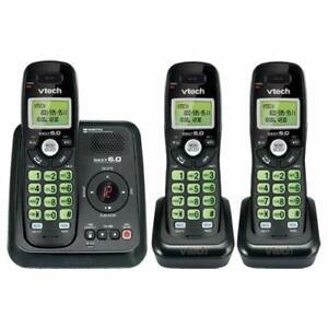 Téléphone sans fil à 3 combinés DECT 6.0 avec répondeur VTech ( CS6124-31 )