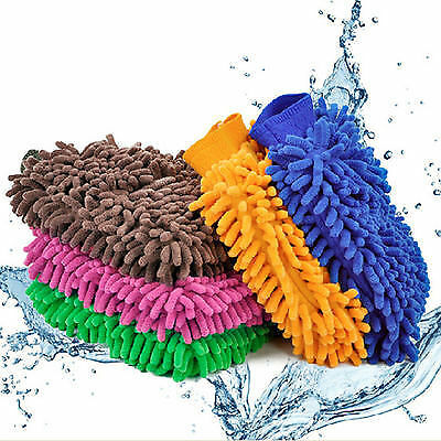 Microfiber car wash mitts.