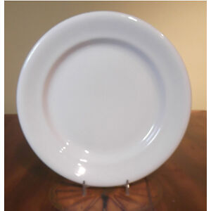 Five White Antique Ironstone Dinner Plates