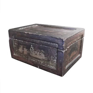 Antique Chinese Lacquer Box with Child's Shoe