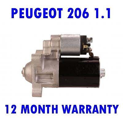 PEUGEOT 206 1.1 1.4 1.6 1998 1999 2000 2001 2002 2003 - 2015 STARTER MOTOR