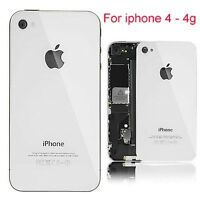 iPhone 4G 4 -White Battery Cover Back / Rear Glass Replacement