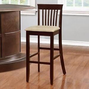 NEW JAMES BAR STOOL JUTE - 30'' SEAT HEIGHT - PVC UPHOLSTERY CHAIR 105148526