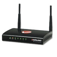 Intellinet Wireless 300N 4-Port Router - 300Mbps, MIMO, QoS, 4-P