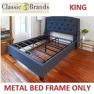 NEW CLASSIC BRANDS METAL BED FRAME 125001-5060 204890545 KING MATTRESS FOUNDATION BLACK HERCULES