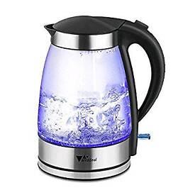 Glass kettle, Blue LED, 1.8L, 1800W