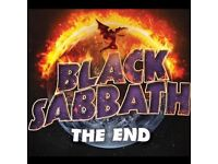BLACK SABBATH - BLOCK 112 ROW N - O2 ARENA - SUN 29/01 - £165!