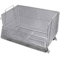 Collapsible wire mesh bins