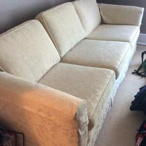 Cream coloured couch for sale