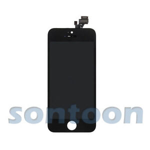 LCD Lens Touch Screen Display Digitizer Assembly Replacement Black for iPhone 5