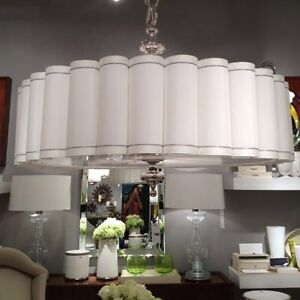 Fluted Pendant Chandelier by Global Views