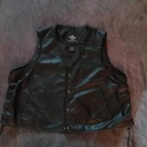 Harley Davidon leather riding vest