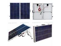 100W foldable solar panel suitcase.
