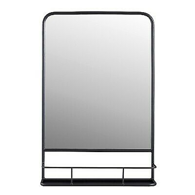 20 x 30 Pharmacy Mirror with Metal Shelf (Powder Coated) Mirror Pewter - Thresho