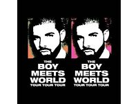 Drake Tickets 2 x STANDING General admission - LEEDS 9th FEBRUARY 2017