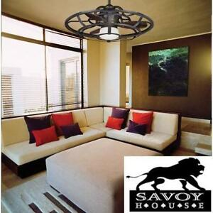 NEW SAVOY HOUSE 26'' CEILING FAN - 123204782 - ALSACE D'LIER RECLAIMED WOOD