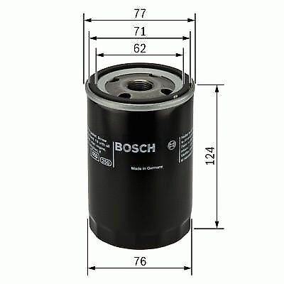 GENUINE OE BOSCH OIL FILTER P3259 - HAS VARIOUS COMPATIBILITIES