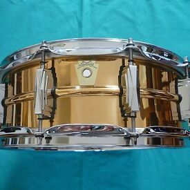 ludwig supraphonic lb550 bronze snare drum new