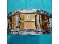 ludwig supraphonic lb550 bronze snare drum new