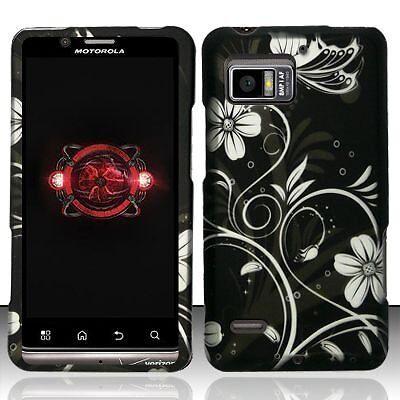 - Design Rubberized Hard Case for Motorola Droid Bionic XT875 - White Flower