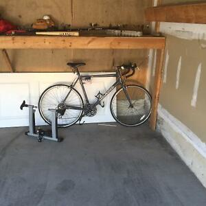 Almost New Road Bike & Stationary Trainer