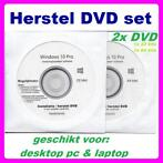 Windows 10 Pro herstel recovery install dvd set of usb stick