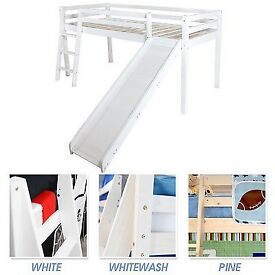 Midsleeper cabin bed with slide