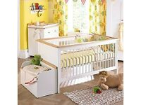 izziwotnot hemingway ii 5 piece nursery set- cot bed, wardrobe, dresser changer, toy box, hanger!