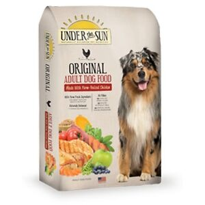 UNDER THE SUN DRY DOG FOOD --3 UNOPENED 28 LB BAGS