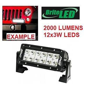 NEW BRITE LED LIGHT BAR 71601 186817335 12 x 3w LEDS, 2000 LUMENS, 12/24V COMPATIBLE, SPOT BEAM