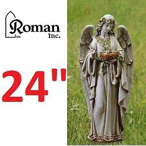 NEW ROMAN ANGEL STATUE 62856 139306662 RESIN AND STONE MIX