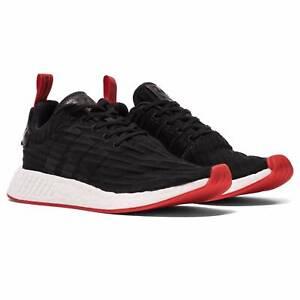 NEW MENS adidas NMD R2 Black Red US 7.5 Primeknit Trainer Melbourne CBD Melbourne City Preview