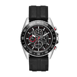 Michael Kors JetMaster Automatic Black Dial Black Silicone watch