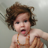 AMBER TEETHING NECKLACE - $24.50