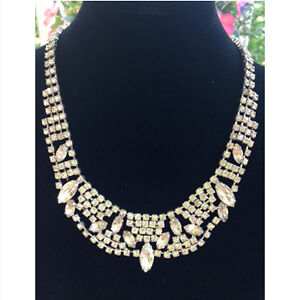 Vintage Continental Rhinestone Necklace/Choker